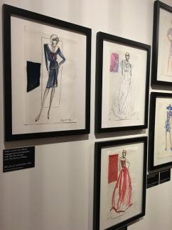 Diana princess of wales dress design sketches sassoon emanuel