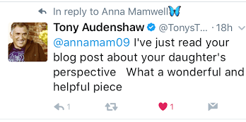 Tony Audenshaw comment anna mamwell blog