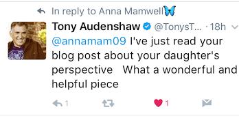 Tony Audenshaw comment anna mamwell blog