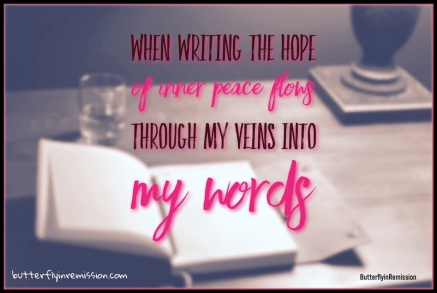 writers life butterfly in remission amwriting