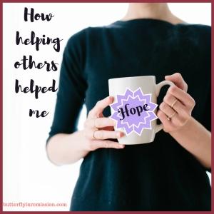 How helping others - butterflyinremission leukaemia blog