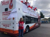 Bloodwise Cheer Bus