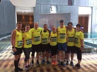 Ray Macallan, George Rainsford with other TV times running team members